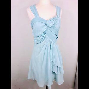 NWT Miha 🦄 Layered Chiffon Dress, baby blue